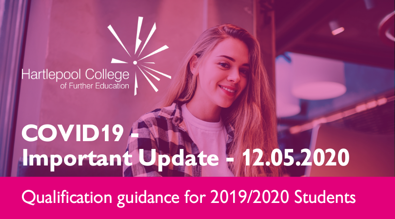 IMPORTANT UPDATE for Hartlepool College of Further Education students undertaking a qualification(s) scheduled to complete by July 31st, 2020 >> http://bit.ly/CovidQualUpdate  #TranformingLives #CovidUpdate pic.twitter.com/8pB9B4w0qa