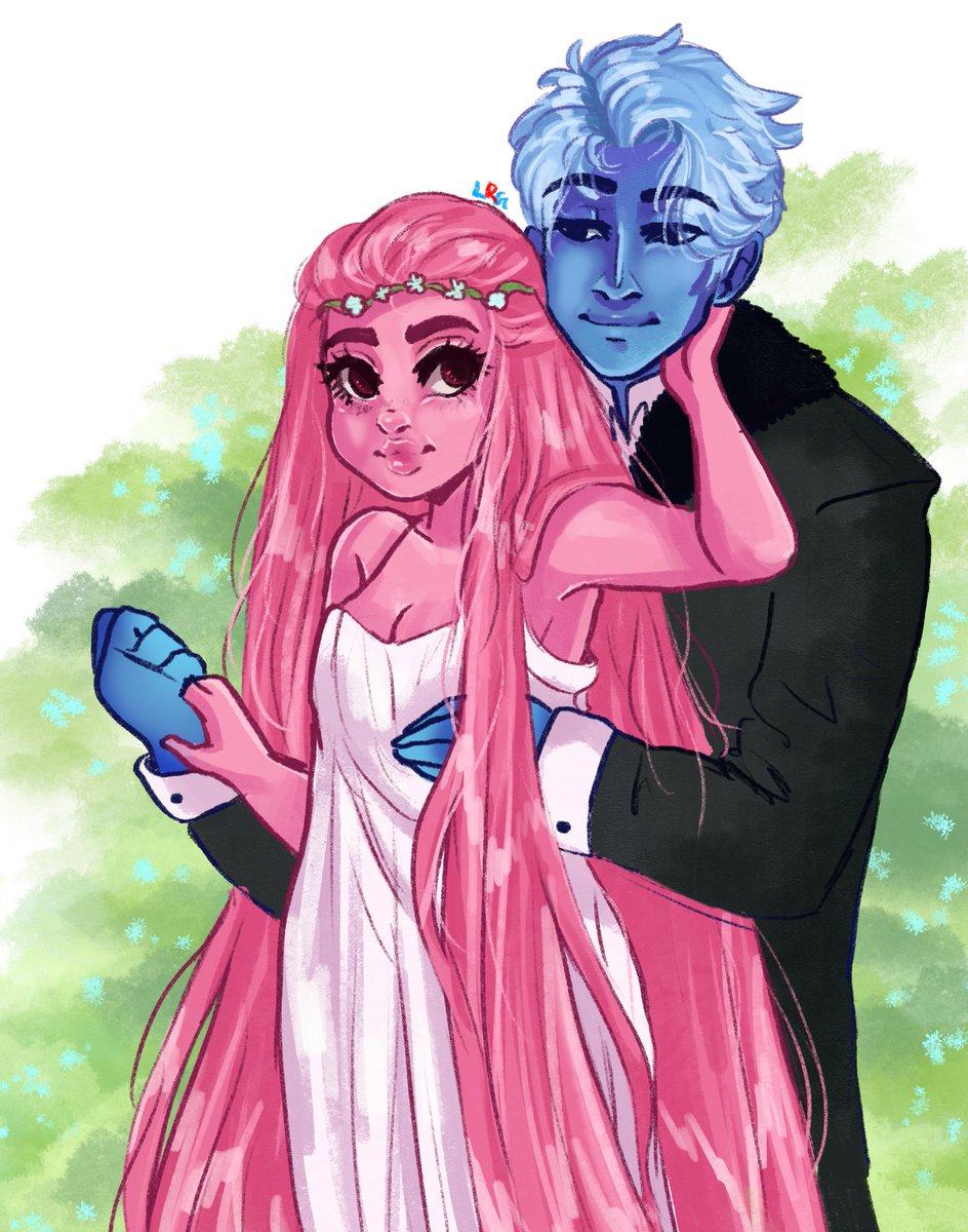 Apart of the #fourships challenge. This was interesting to do. #LoreOlympus #hades #persephone #hadesandpersephone pic.twitter.com/ivJ70YAC0V