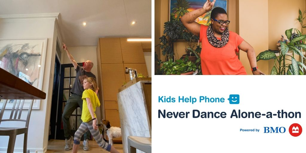 For over 30 years @KidsHelpPhone has been there for young people whenever they need to talk. You can support KHP by joining their virtual Never Dance Alone-a-Thon happening May 31. Grab your dancing shoes and learn more at https://t.co/xawG9F6GuT #NeverDanceAlone #BellLetsTalk https://t.co/ag8xG8ZHAe
