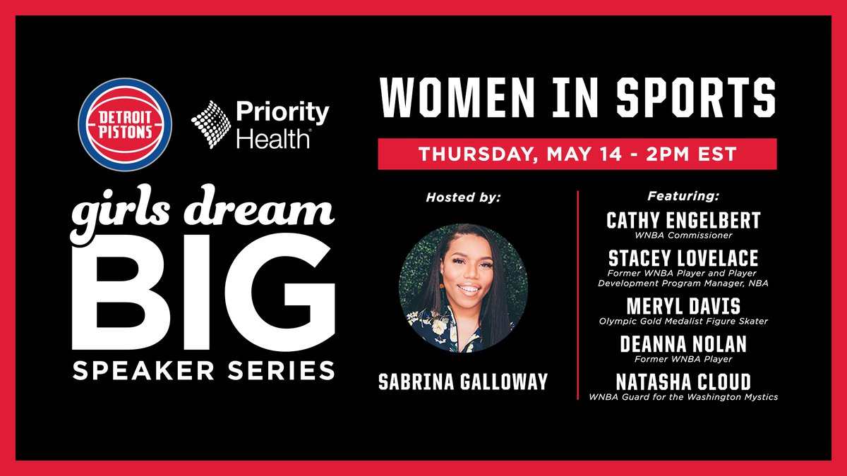 Check out our All-Star roster for our inaugural Girls Dream Big Speaker Series presented by @PriorityHealth on Thursday!  Join us for a series highlighting female leaders in sports, media & entertainment, leadership and entrepreneurship https://t.co/EYp6mPC0Tp https://t.co/LoxC3Rpn3U