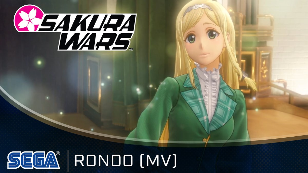 """Looks like Claris been spending some time in both the book store and the music shop.  Here's the music video for the character song """"Rondo"""" by Clarissa Snowflake (voiced by Saori Hayami) in #SakuraWars, available now for PS4!    #FlowerDivision🌸"""