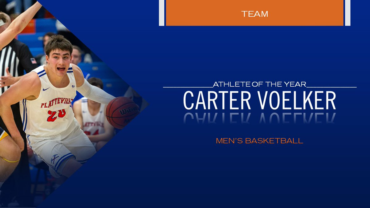 And our final award of the night goes to our Team Athlete of the Year, Carter Voelker of @Platteville_MBB!!! Congrats to all of the award winners!!! #PeteyAwards #SwingTheAxe https://t.co/etsUjabPel