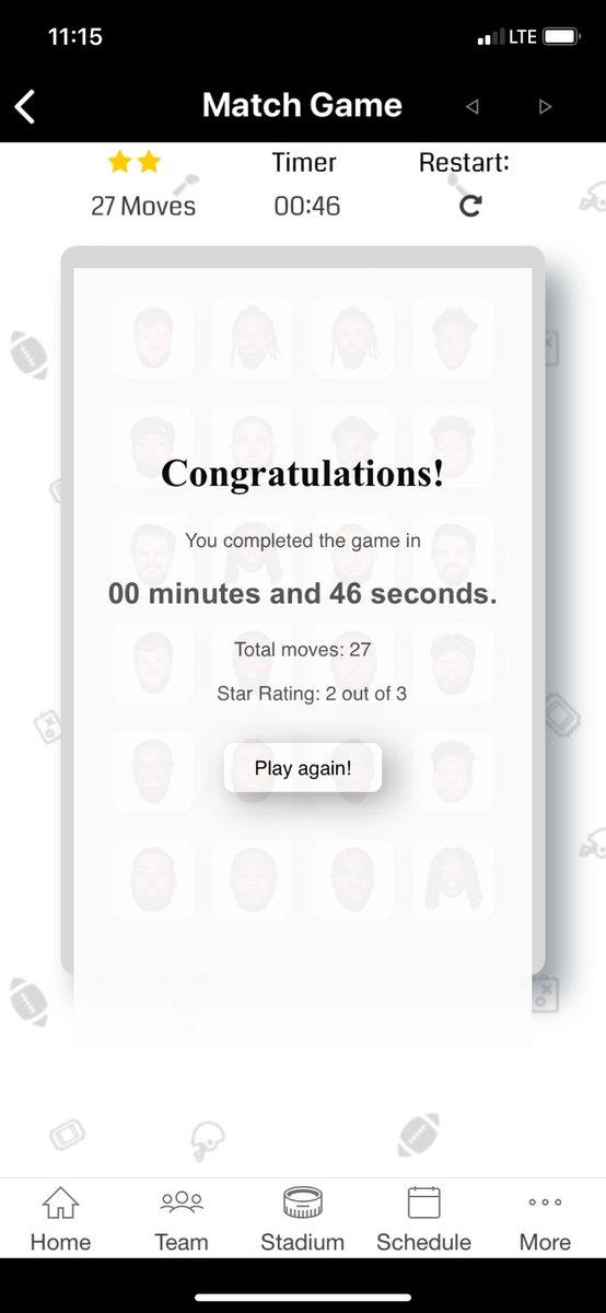 @Saints @Verizon I did it in 46 secs!!