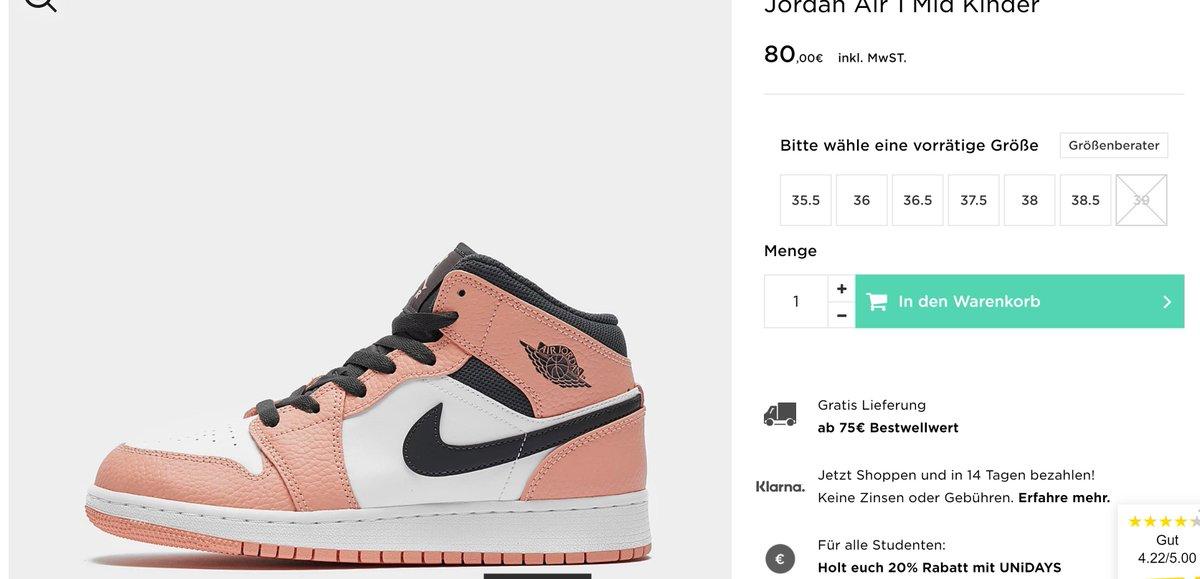 Air Jordan 1 Mid GS 'Pink Quartz