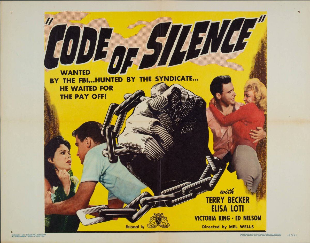 Code of Silence  #cinema #movieposters   Francisco D'Agostino pic.twitter.com/m7bIltIc4d