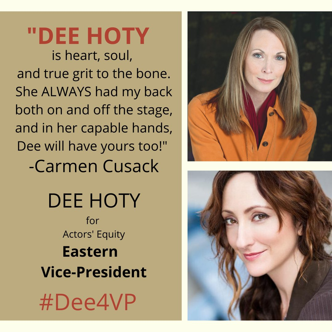 I got to be a part of this gorgeous lady's Broadway debut and she is a kind and genuine person through and through (plus talented to boot!) ❤️ #Dee4VP #EquityStrong #1UnionAllVoices @carmen_cusack https://t.co/fwq3PbAPCA
