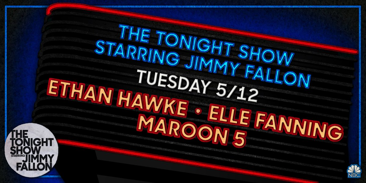 Tonight on #FallonAtHome: Ethan Hawke, Elle Fanning, and music from @maroon5! Plus a special performance with @brendonurie! https://t.co/PxOfxQfFuH