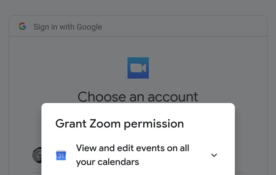 """What does """"Add to Google Calendar"""" mean for normal websites? A simple https://t.co/jeiAZYUXah link. What does it mean for foreign spyware? Well, just look at Zoom: https://t.co/uxlswF3Jcf"""