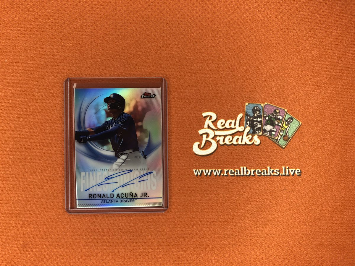 2019 Topps Finest Ronald Acuña Jr Finest Origins Auto . . . @Topps #realbreaks #boompoodle #whodoyoucollect #topps #toppsbaseball #toppsfinest #casebreak #groupbreak #mlb #baseball #baseballcards #ronaldacunajr #acunajr #braves #bravesbaseball #choponpic.twitter.com/BI7c1NU4S4