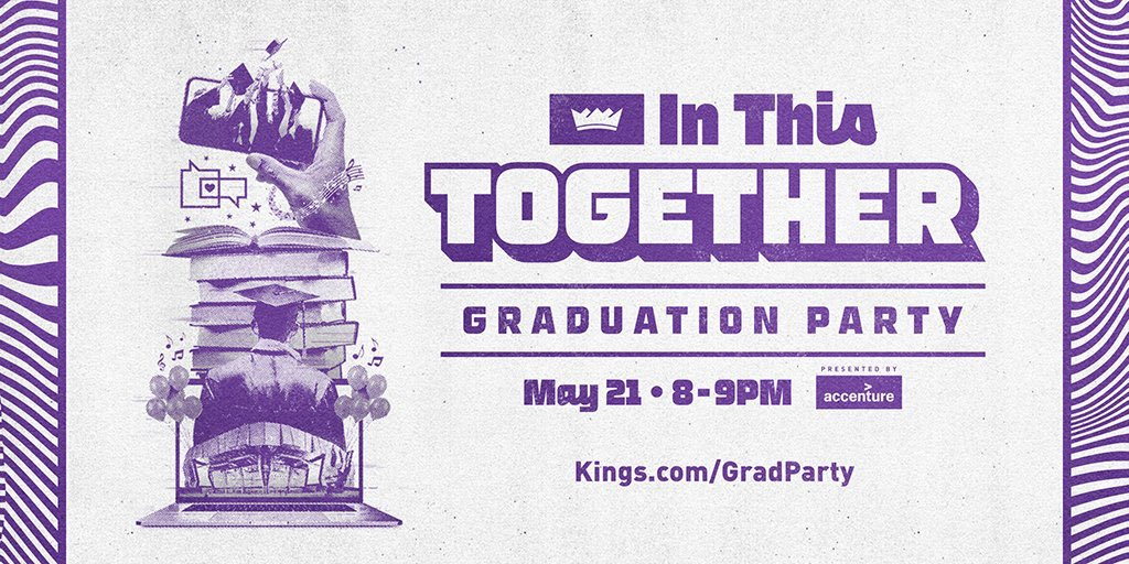Join the @SacramentoKings on May 21 from 8-9pm for a virtual event celebrating the hard work and success of the graduating class of 2020! 🎓 Presented by @Accenture.  RSVP here ➡️https://t.co/Lij7FKv5S1 https://t.co/STebBSsvfY