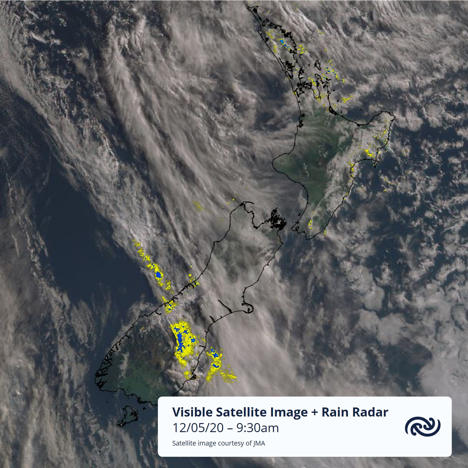 Though a ridge of high pressure keeps the weather dry over most the country today a few showers will continue to affect eastern parts from Northland to Hawkes Bay along with a thin band of rain over southern Westland. For more details head to metservice.com ^AC
