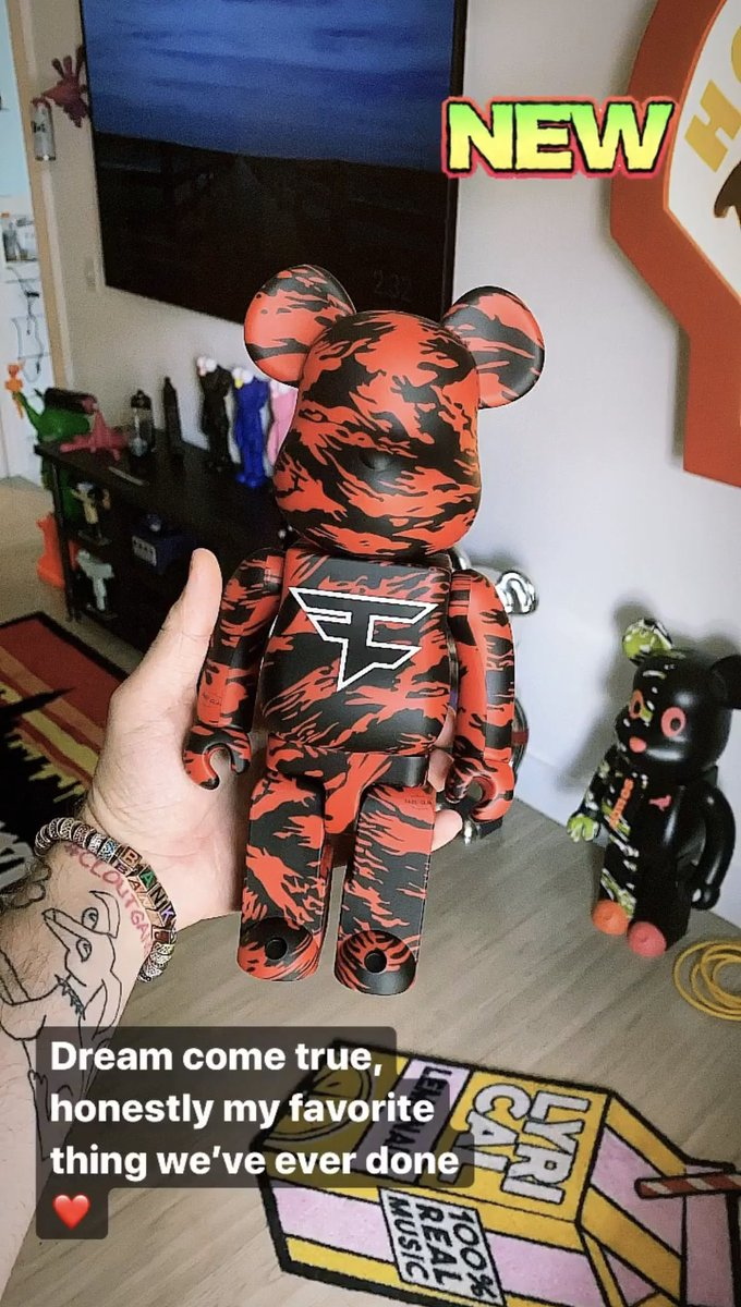 FaZe Clan x Bearbrick. Dream come true. Maybe I'm biased, but hands down the coolest thing we've ever done. May 30th
