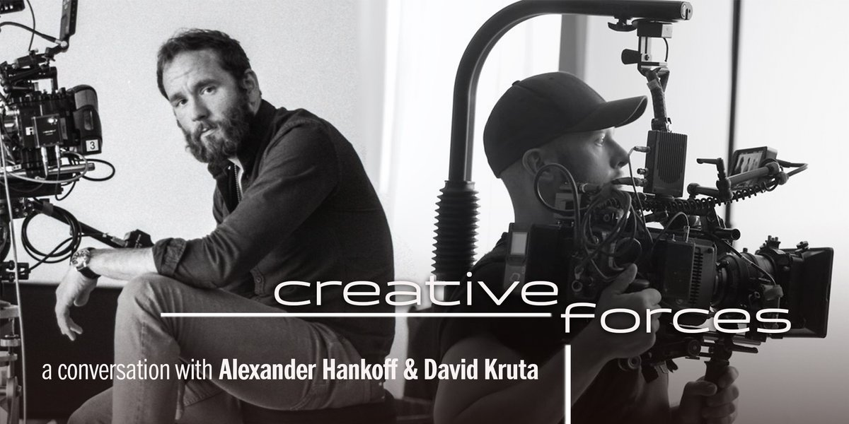Exciting news: our next #CreativeForces Online will feature special guests @hashtaghankoff & @dkruta! | moderated by @jeffleephoto, sponsored by @ARRIChannel @SonyCine   Mark your calendars for Tue, May 19 at 2:00pm PT / 5:00pm ET and register now http://www.abelcine.com/learn/calendar/creative-forces-online-alexander-hankoff-and-david-kruta…pic.twitter.com/EPTQhBFtuR