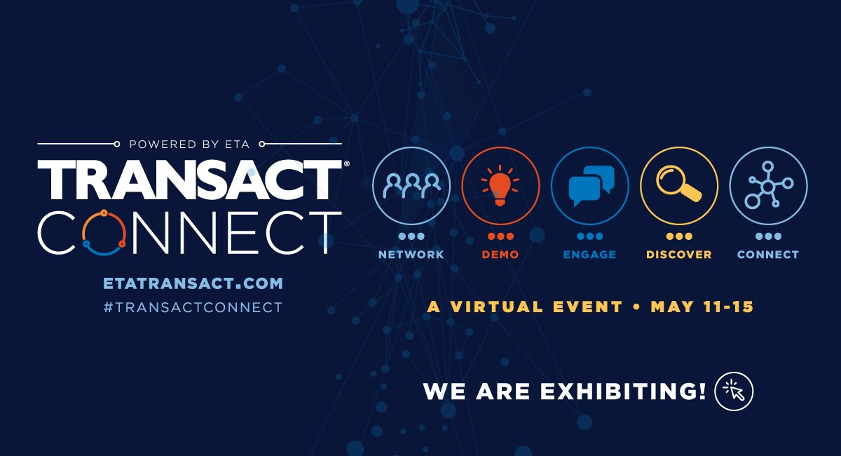 Attending #TRANSACTConnect? Make sure to stop by our booth on the virtual show floor this week! Learn more at https://t.co/zohvwiFWVn. https://t.co/tkULyrvm44