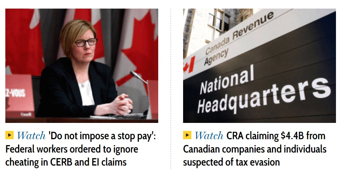Does the dichotomy of these side-by-side headlines also strike others as ridiculous?  I'm all for chasing down #tax cheats to protect public dollars, but that should include ALL tax cheats.  #Liberals: Do better by taxpayers. I know you often forget this, but it's not your money. https://t.co/gUQ5zYm4vv