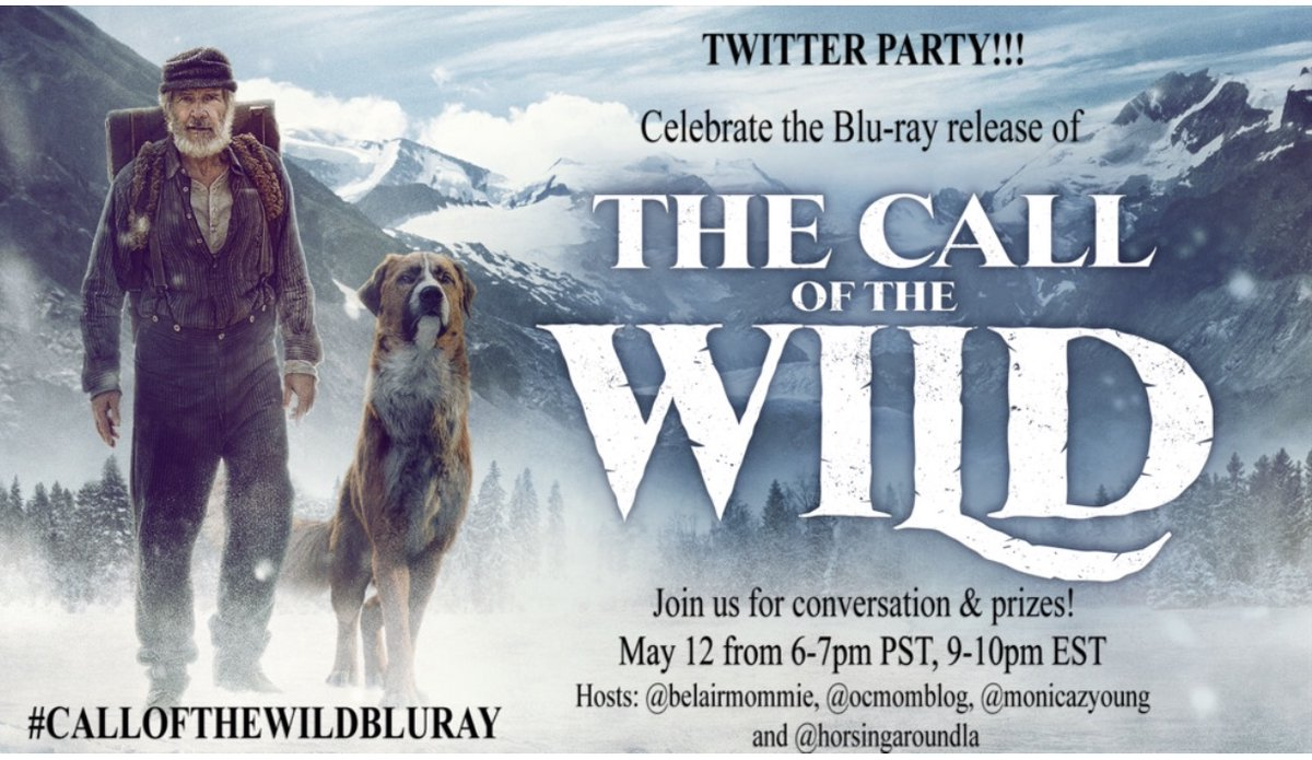 TONIGHT! Join us for #thecallofthewild #TwitterParty! Fun conversation & prizes. See you soon & can't wait to party in our pjs!  When: May 12th Time: 6-7pm PST Hashtag: #CALLOFTHEWILDBLURAY RSVP link: https://forms.gle/ybwU3VRqjsV3Ff5e6… pic.twitter.com/Is0JIger4y