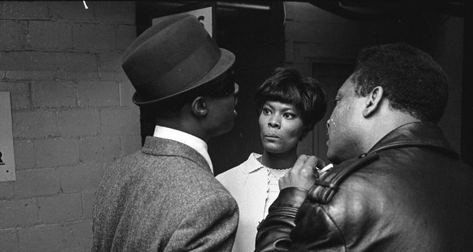 Happy 70th birthday to Stevie Wonder! Here s Dionne with Stevie backstage at the Washington Coliseum, 1966.
