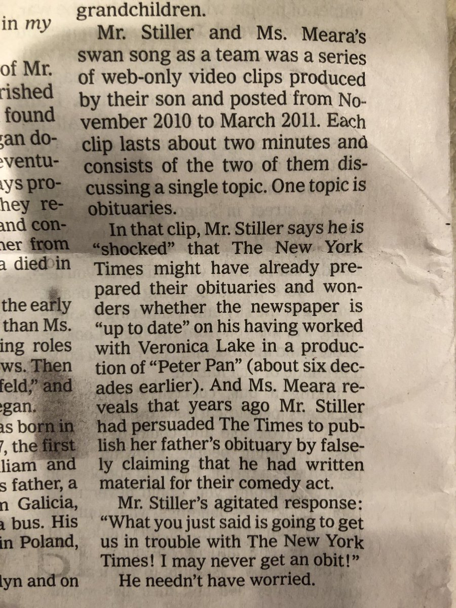 A brilliant conclusion to an obituary that Jerry Stiller would have appreciated. RIP. (By ⁦@PeterKeeptru⁩) https://t.co/tQJ1C72dPm