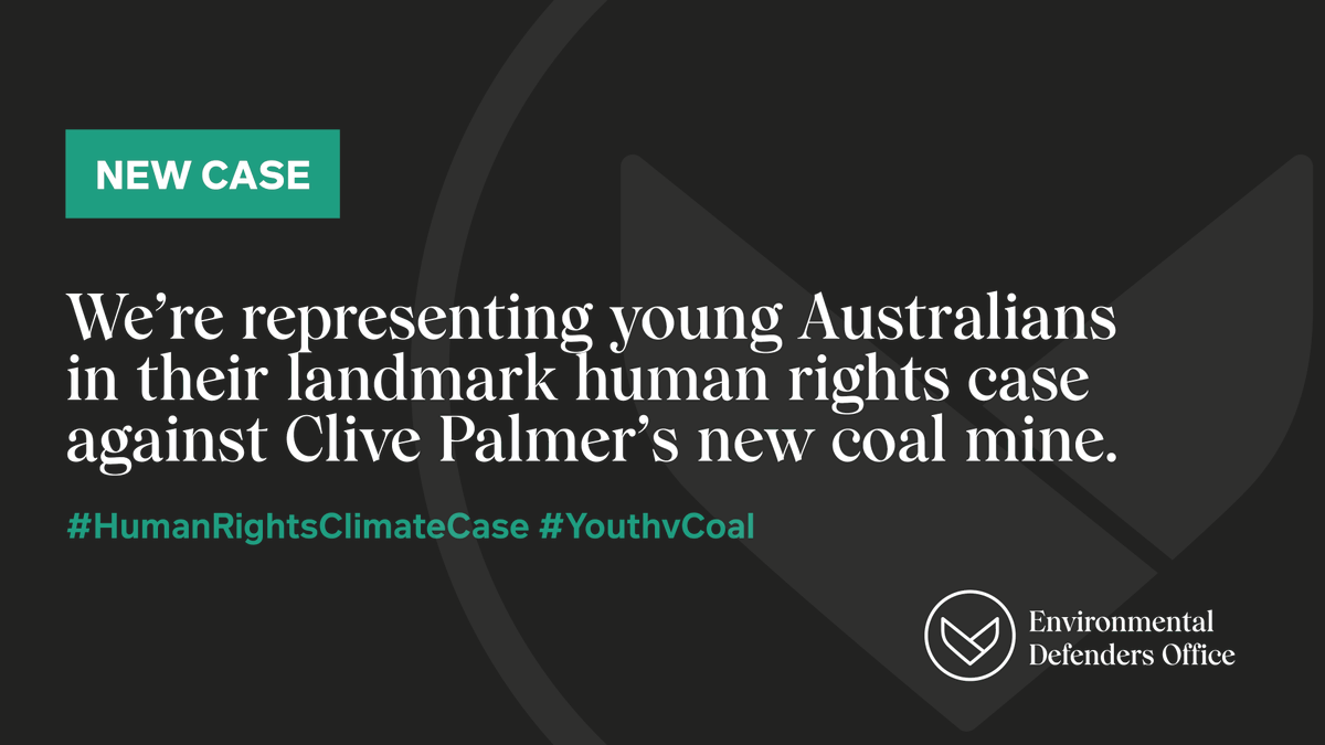 BREAKING📣We're launching Australia's first ever human rights coal mine challenge👨🏻⚖️  We're heading to court for young Australians & local landholders to challenge Clive Palmer's proposed Galilee Coal Project on human rights & climate grounds.  #humanrightsclimatecase #youthvcoal https://t.co/S4dqwymGUm