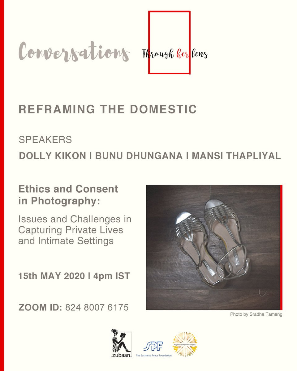 This Friday, join us online at 4pm (IST) as we begin a series of discussions with #feministresearchers, #photographers and #curators as part of our #webinar series—Through Her Lens: Conversations on Reframing the Domestic.