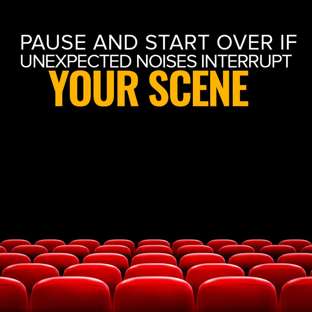 Pause and start over if unexpected noises interrupt your scene. #Wednesday #Wednesdaywisdom #acting #actingpartner #team #support #theatre #action #love
