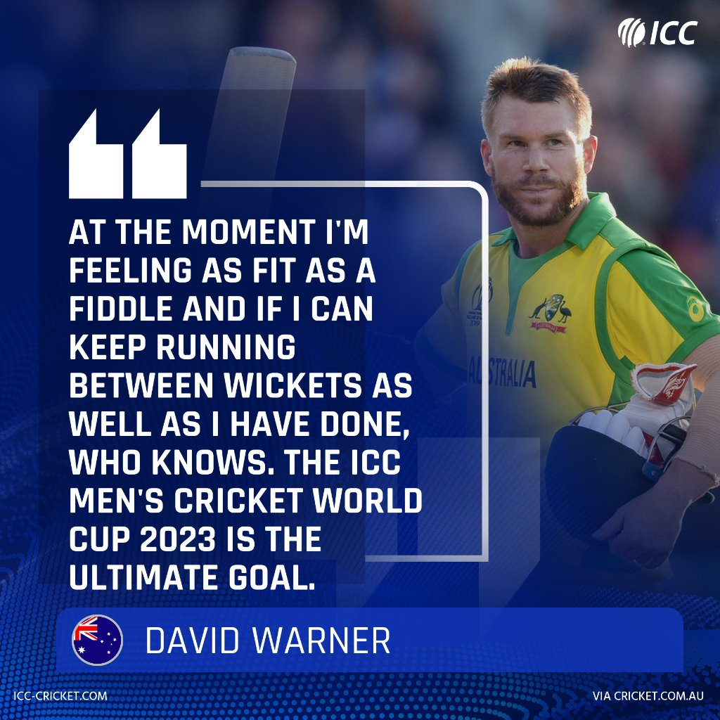 David Warner, who was the second-highest run-scorer in the #CWC19, is hoping to make a mark in the 2023 edition too 👀 Read more: bit.ly/WarnerCWC