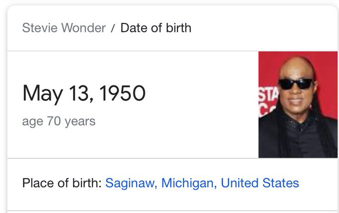 Happy Birthday to Stevie Wonder
