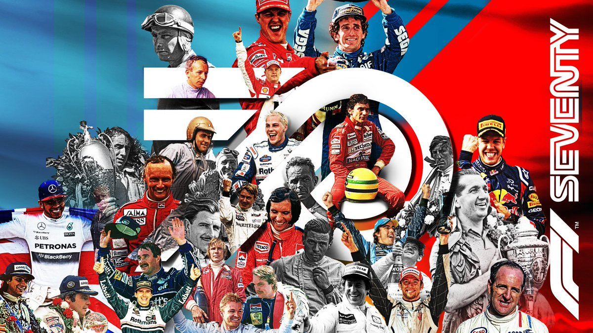 To triumphs. To passion. To daredevils and mould-breaking heroes.  To the history already written, and to come.  Today we celebrate our first ever race back in 1950 - and all the highs, lows, champions and legends that have followed.  #F1 #F170 https://t.co/shrpB4mQRb