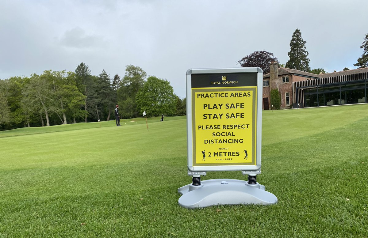 Thank you to @PageBros for the excellent service printing our signage for reopening ⛳️ #PlaySafeStaySafe