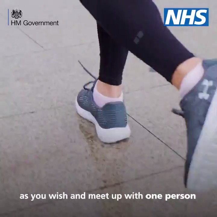 From today, you can exercise outside as much as you wish, and meet one person outside your household provided you stay 2 metres apart. Find out more here ⬇️