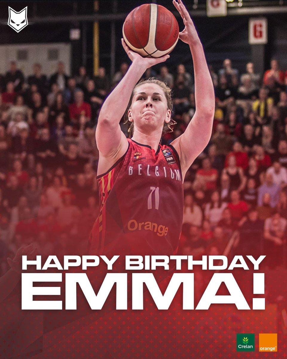 Join us in wishing a happy birthday to our #MVP @EmmaMeesseman today! 🏀🇧🇪👑 #basketballbelgium #crelansport #allforbasketball #meessemood https://t.co/6xrjfUJeHw