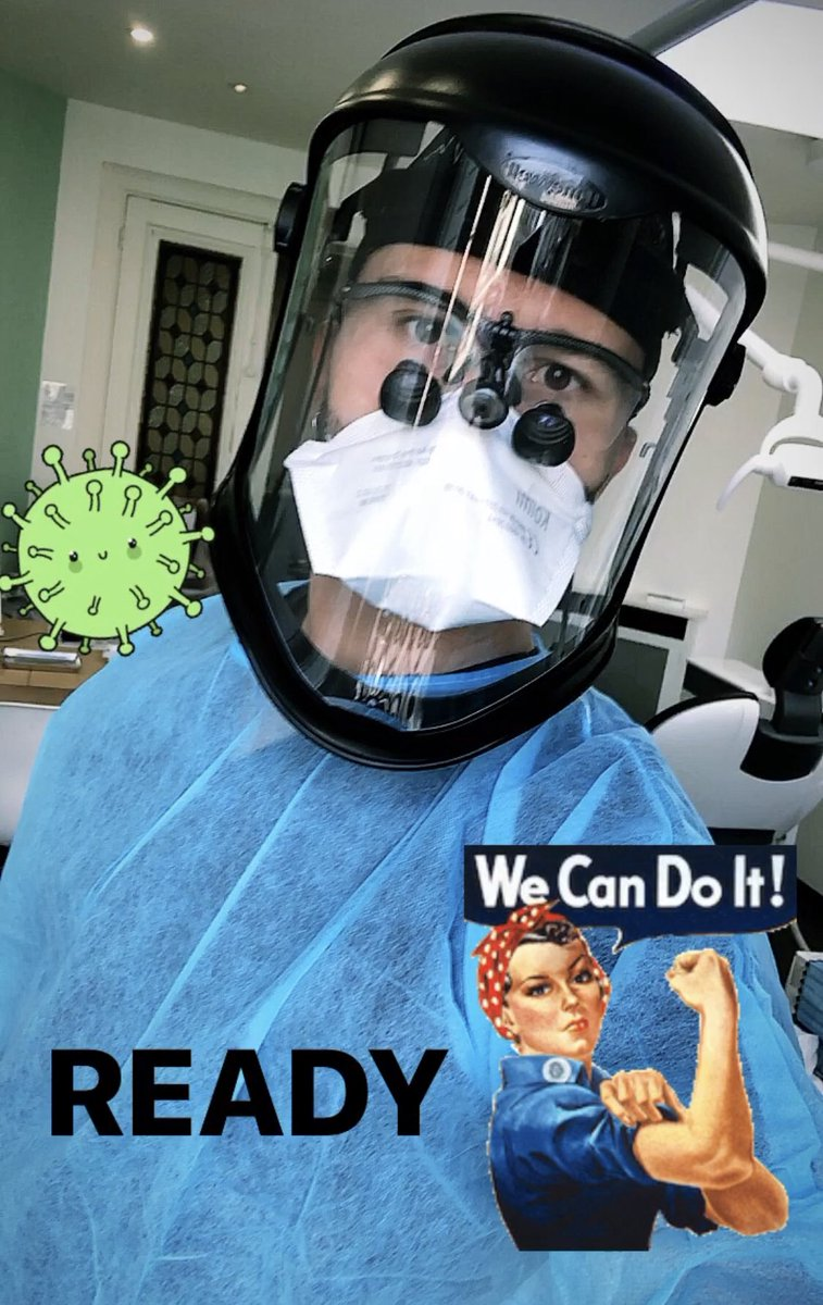 Your dentist is ready to work 🤪 ! #covid #dentist https://t.co/5Zd7BdQdDv