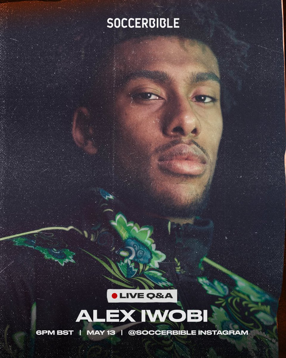 .@alexiwobi will be taking over our Instagram to host a Q&A today at 6PM BST. Get your questions in now via our Instagram Story: instagram.com/stories/soccer…