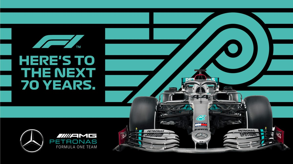70 years old, you sure don't look it @F1! 😘   Today we celebrate the very first Formula 1 Grand Prix at Silverstone in 1950!   Time sure does fly when you're having fun - here's to the next 70! 👊 #F170 https://t.co/9Q5QpZMghs