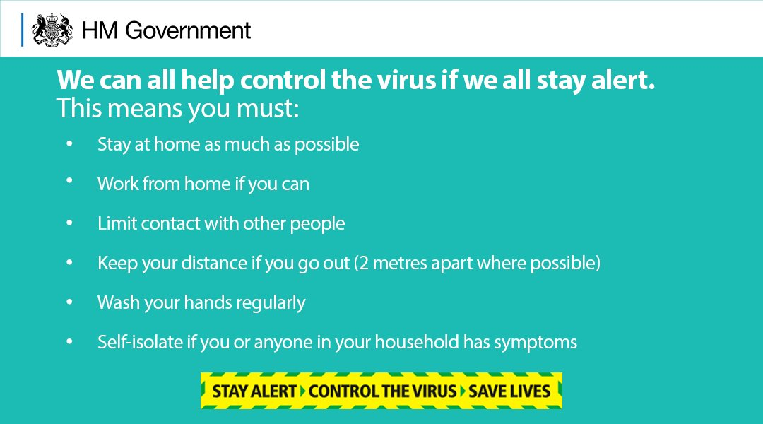We can help control the virus if we all stay alert. #StayAlert