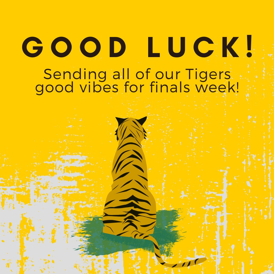 Go get 'em, Tigers! You've got this! 📖💚🐯#TUproud