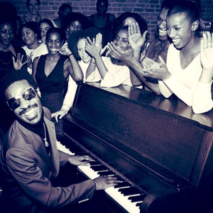 Happy Birthday to the great Stevie Wonder. I love this photo.