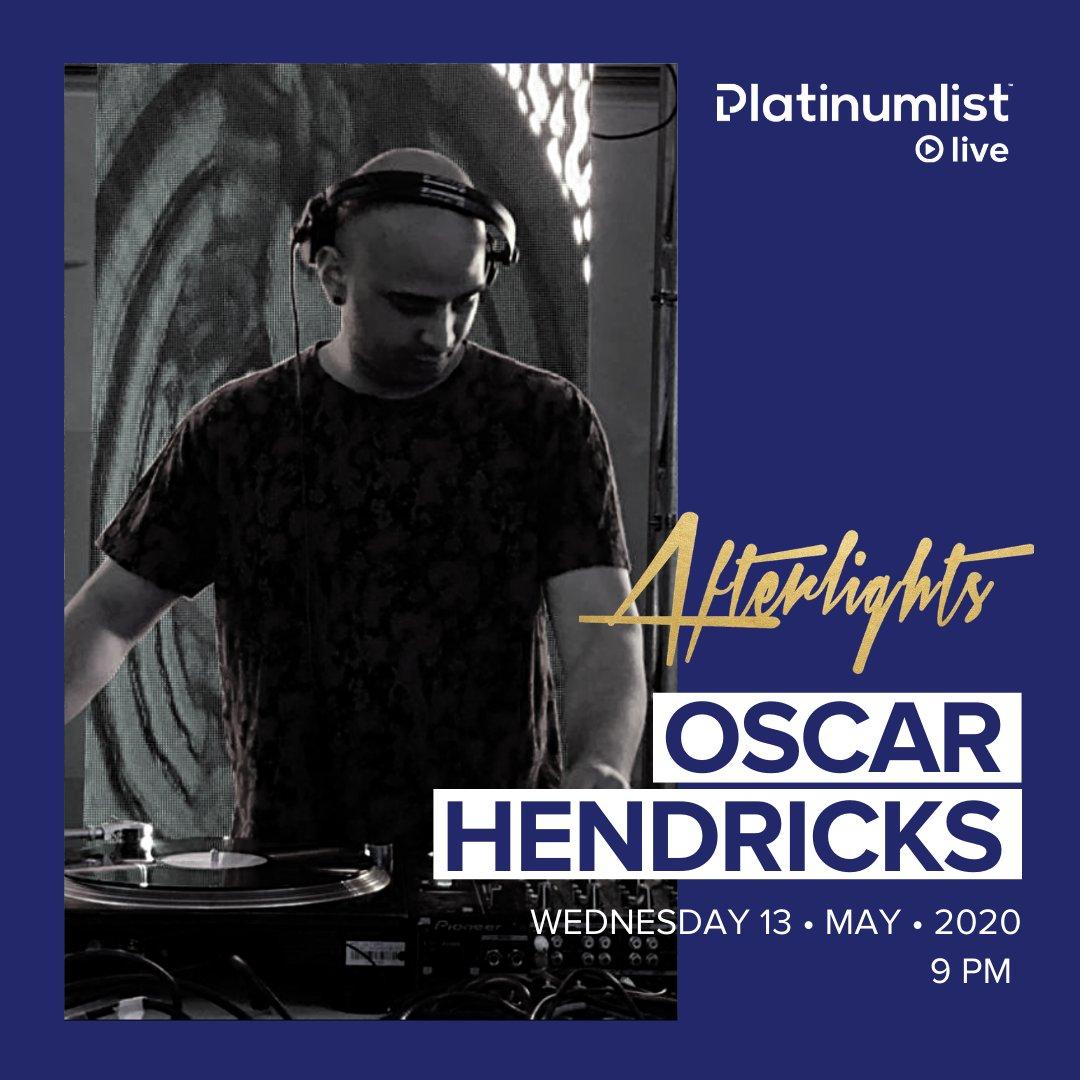 Oscar Hendricks is set to take over #platinumlistlive, tonight! Don't miss it, platinumlist.net/live