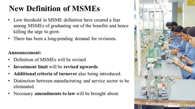 NEw Definition of MSME