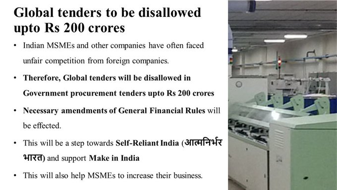 Restriction on global Tenders