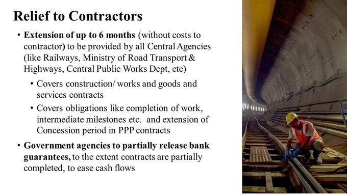 Relief to contractors