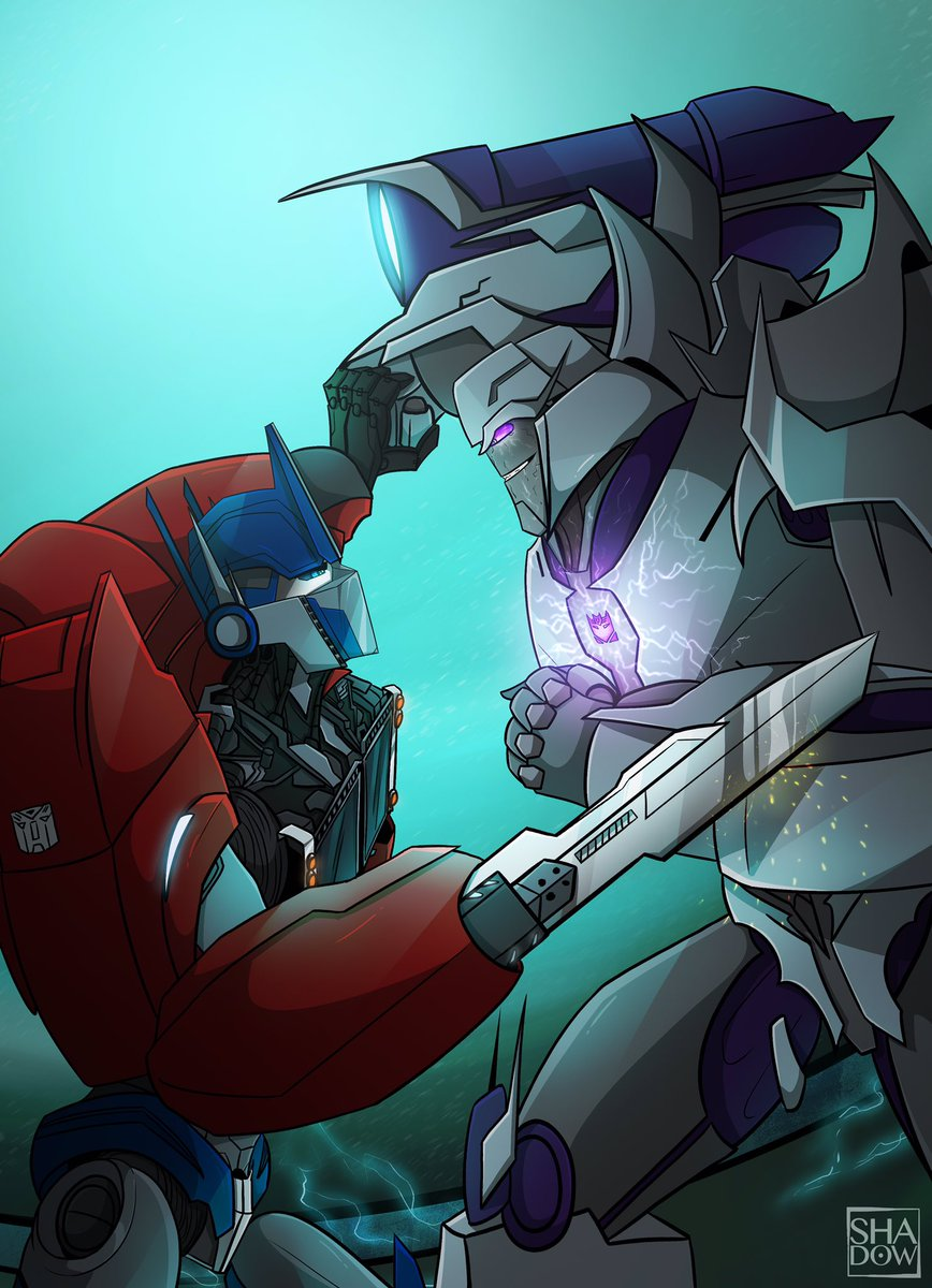 After rewatching Darkness Rising, this is still one of my favorite battle 👌🏻 #TransformersPrime #TFP #OptimusPrime #Megatron #Hasbro