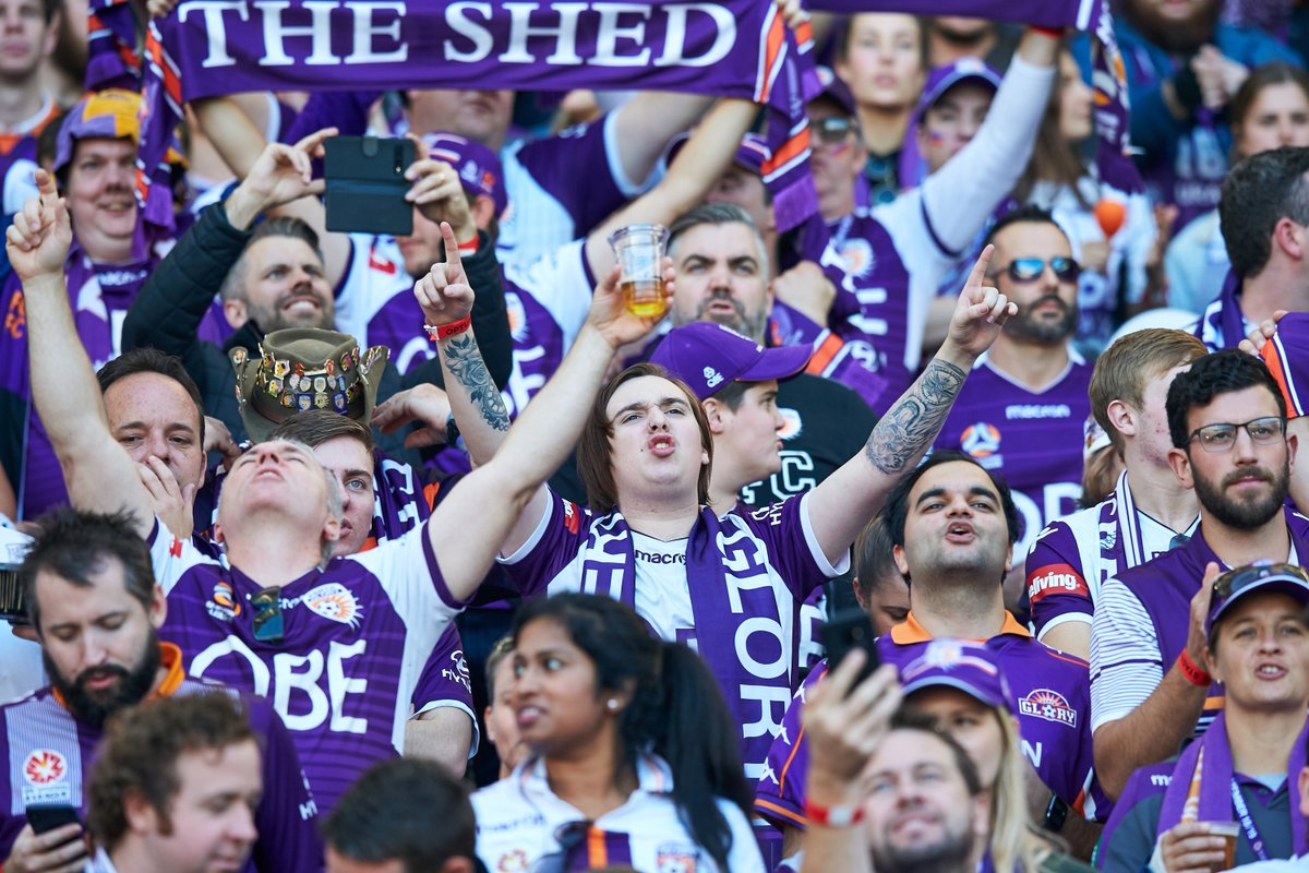 "Pic #2/10 📷 #OptusStadiumTakeover with resident photographer, Travis Hayto    ""I have captured thousands of fans at Optus Stadium. In my opinion, the passion of the @PerthGloryFC fans at the A-League Grand Final tops the lot of them 💜."" https://t.co/7rWQkmXWR3"