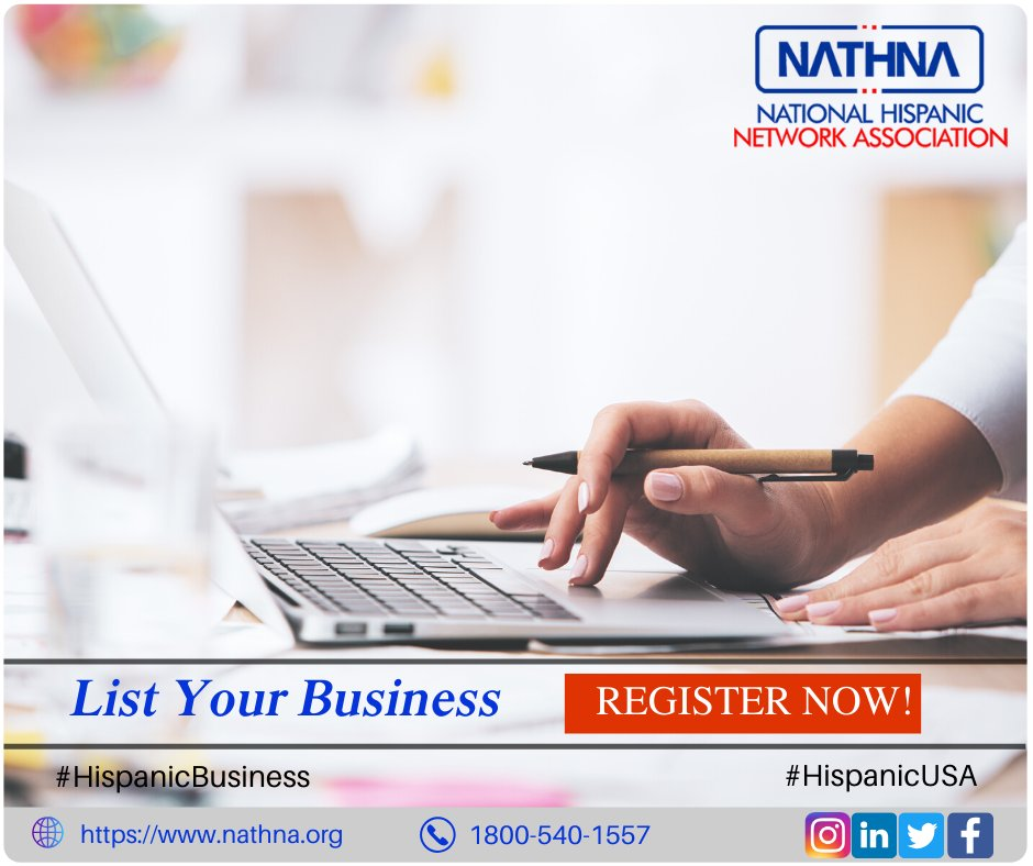 National Hispanic Network Association Is A Local Business Directory. List Your Business and Become a Hispanic Member, Expand Your Reach Among Users. Visit nathna.org #Nathna #HispanicBusiness #HispanicUSA #LocalDirectory #arizonastate #Eloy