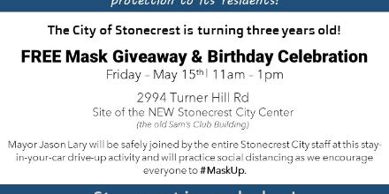 Tell everyone you know who needs one! #MaskUp #StonecrestCares #MayorLary
