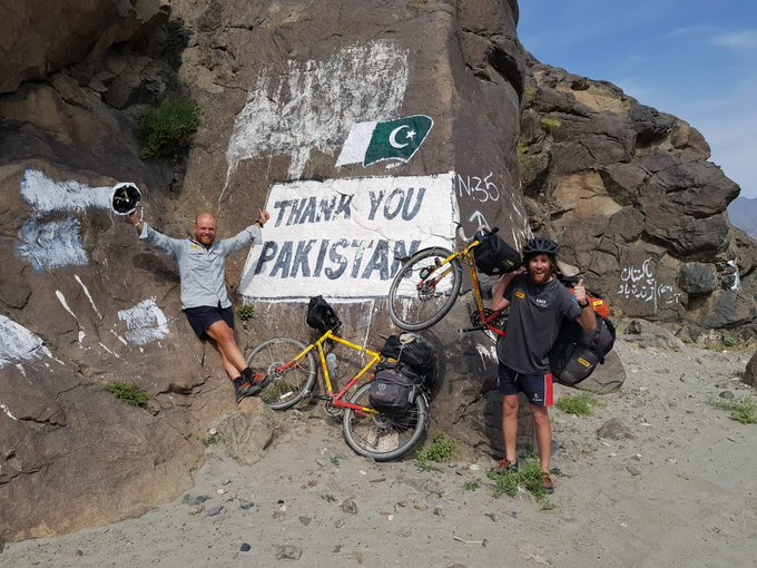 This time last year, @RonRutland and @JamesOwens_90 were weaving their way through the mountains of Pakistan in support of @ChildFundPIB #RaceToRWC