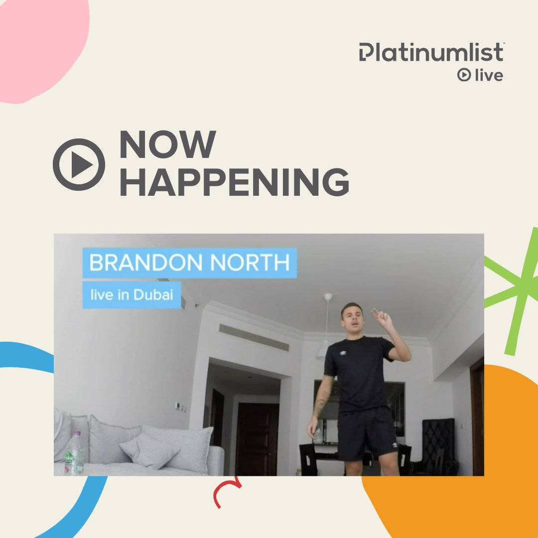 Let's get active! We are now live with Coach Brandon North! 🏃♂️Tune in: platinumlist.net/live