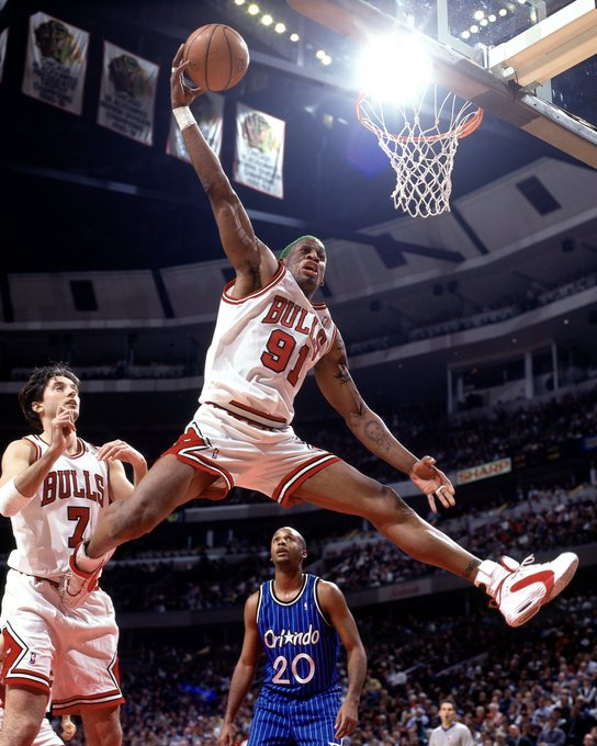 Chicagobulls: The greatest rebounder of all-time.  Happy Birthday, Dennis Rodman!
