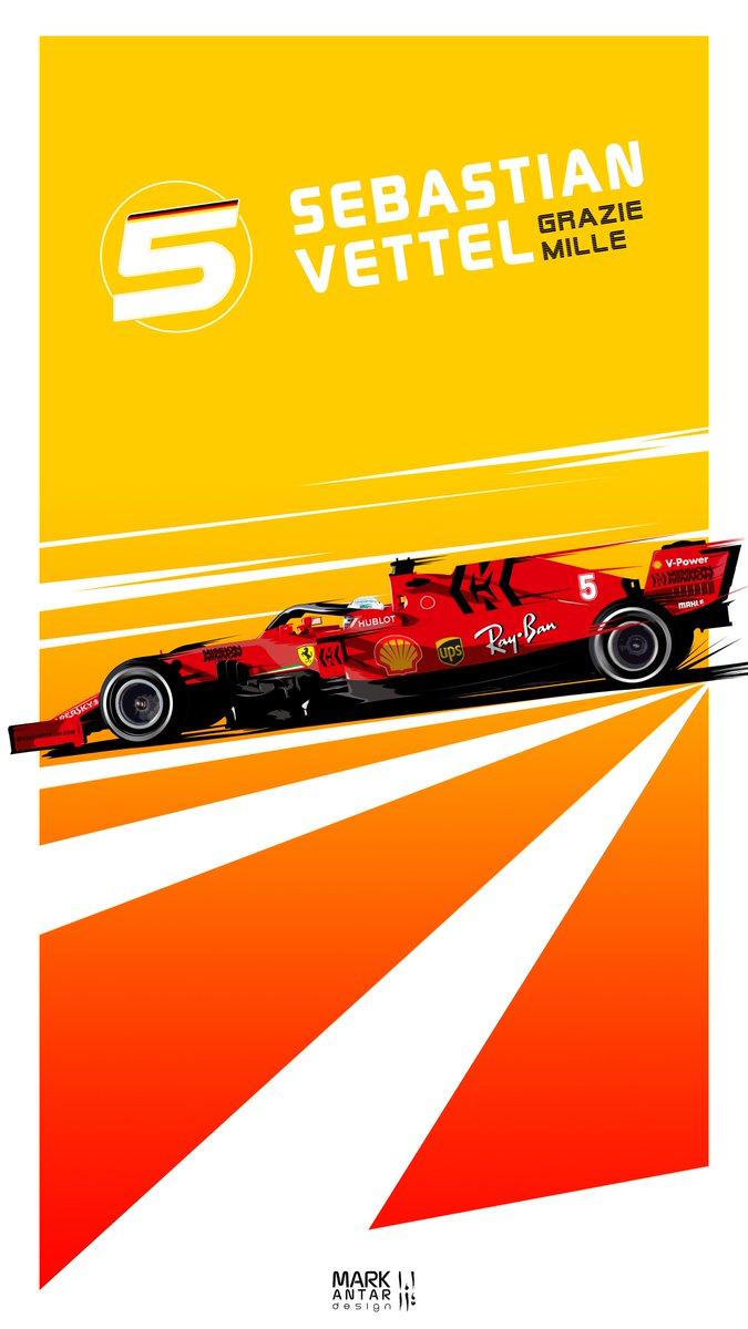 Mark Antar Design On Twitter Seb Phone Wallpaper Seb5 Vettel Ferrari F1 Wallpaper Formula1 Sf1000