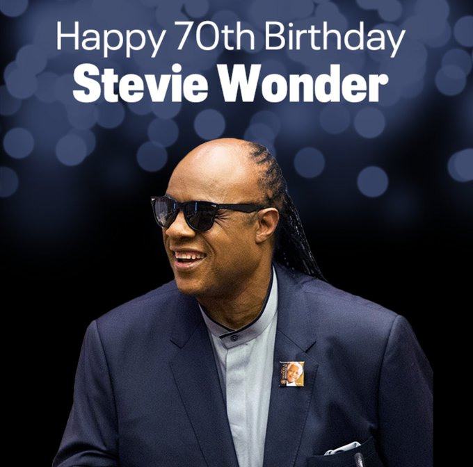 Happy 70th birthday to the legendary Stevie Wonder!